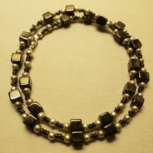 """Claire's """"Black Cubicle"""" Necklace  NYC ♥"""